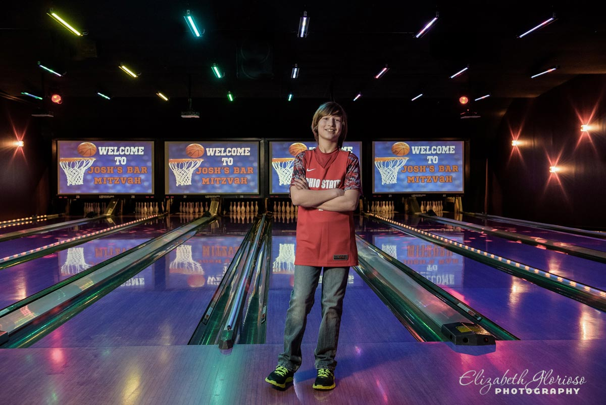 Bar Mitzvah boy at Bowling Party Solon Ohio