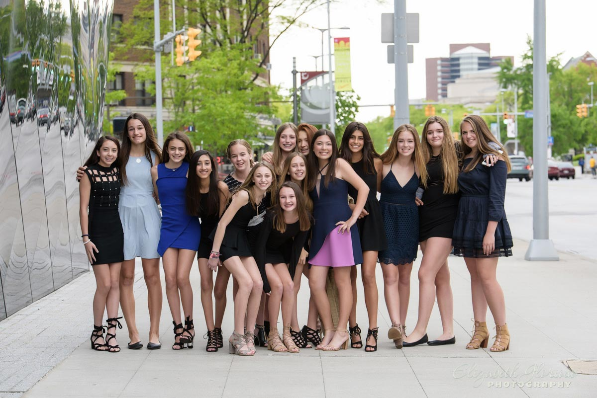 Bat Mitzvah New York theme Fashion party at MOCA Cleveland Ohio