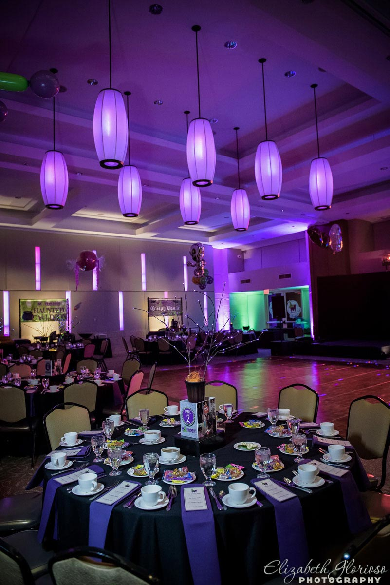 Halloween themed mitzvah party at Fairmount Temple in Beachwood Ohio