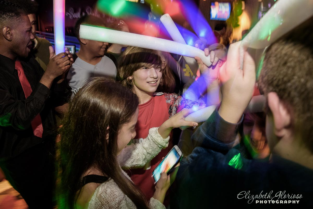 Bar Mitzvah Boy light ups at dance Party Solon Ohio