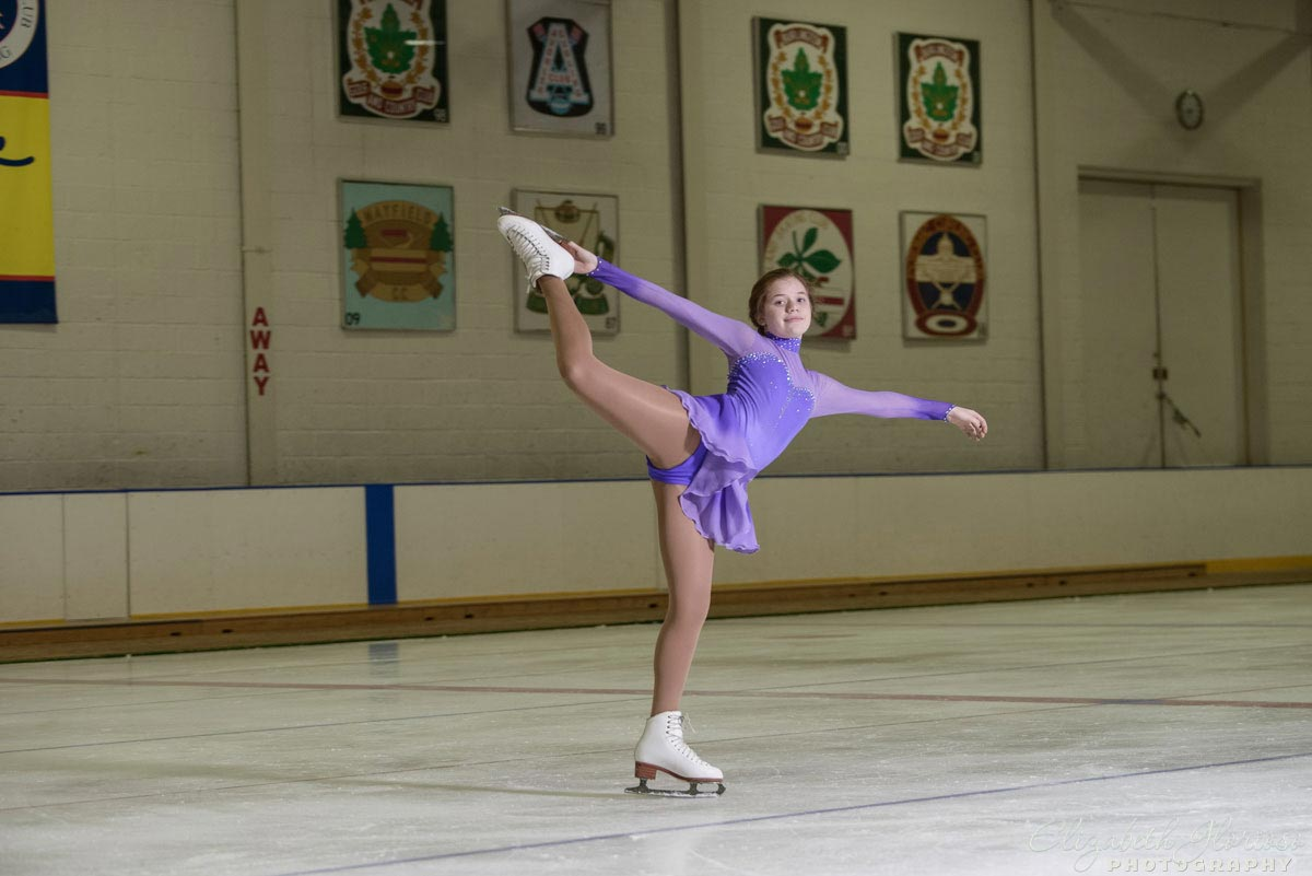 Bat Mitzvah figure skater at Cleveland Skating Club