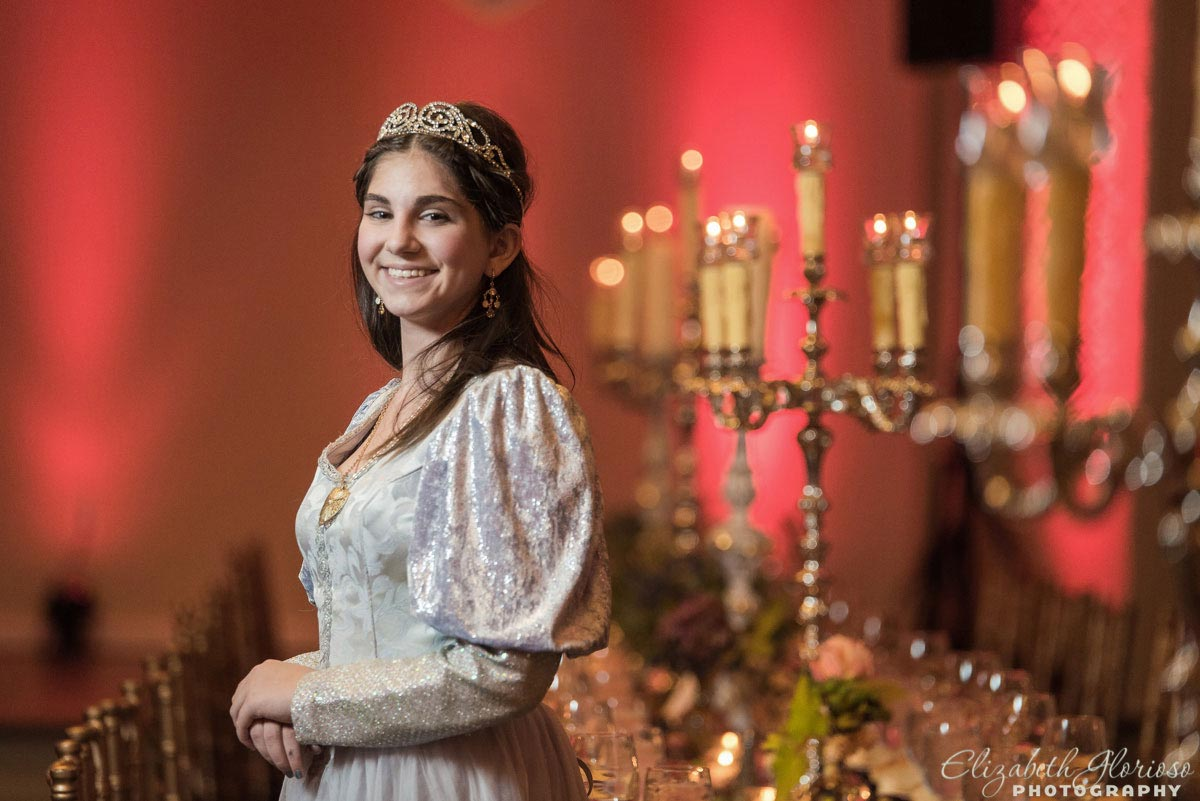 Medieval Bat Mitzvah portrait at Park Lane Ballroom in Cleveland Ohio