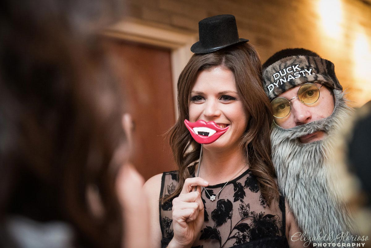 Photo booth candid dress up at Mitzvah Party in Canton Ohio