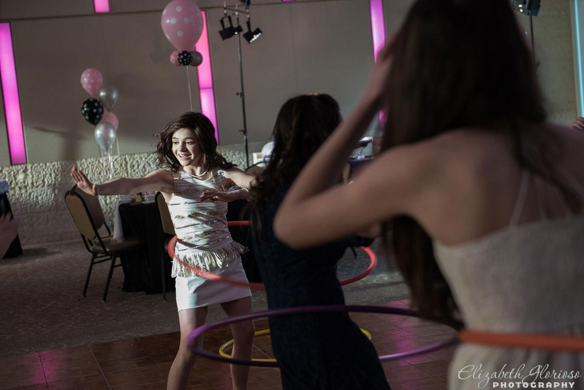 Limbo party game at Bat Mitzvah in Canton Ohio