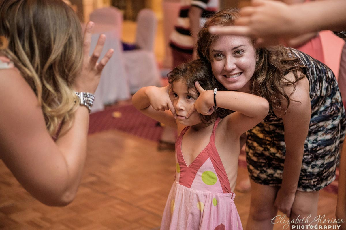 Funny face party candid at a Mitzvah in Cleveland Ohio