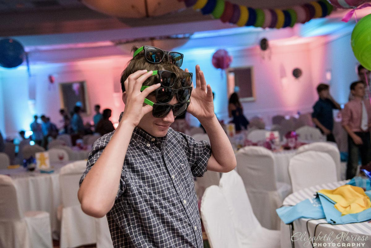 Mitzvah party candid at Hilton Doubletree in Beachwood Ohio