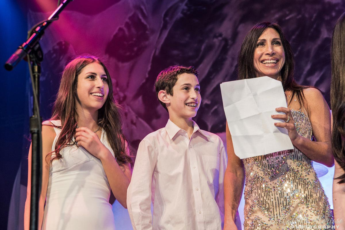 House of Blues Bar Mitzvah boy with family in Cleveland Ohio