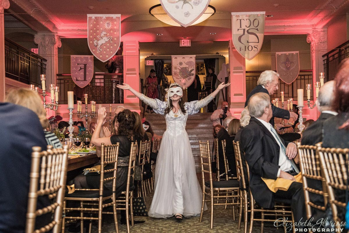 Medieval Bat Mitzvah introduction at Park Lane Ballroom in Cleveland Ohio