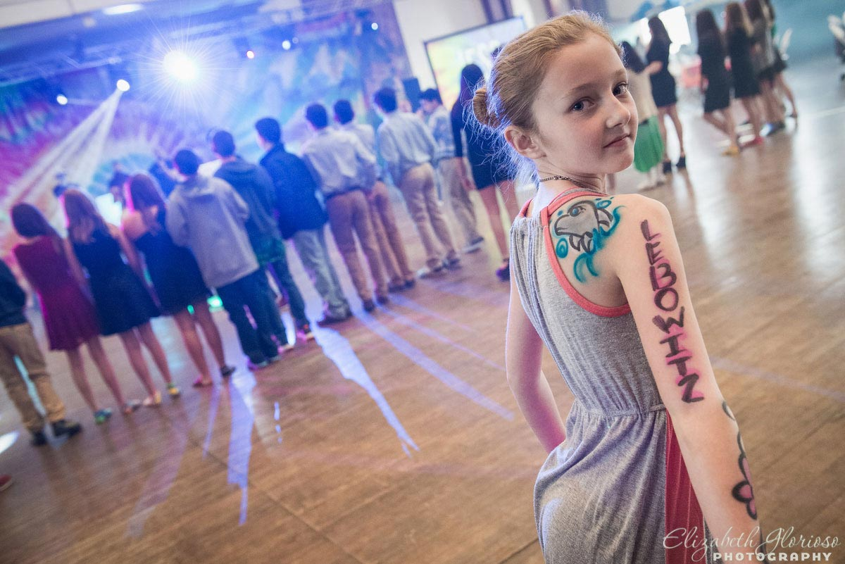 Airbrushed Tattoo Bat Mitzvah party at the Cleveland Armory in Cleveland Ohio