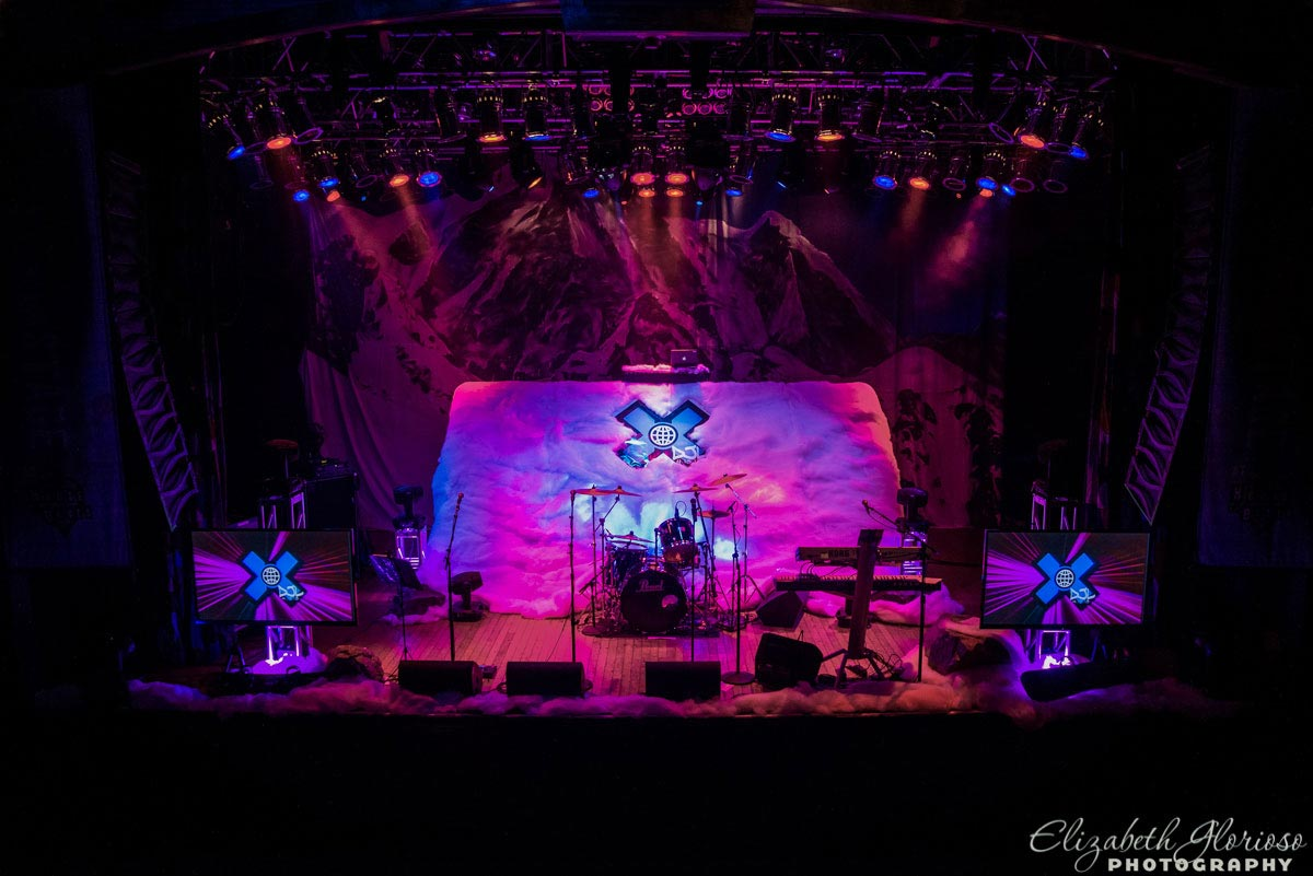 Custom stage X-Games theme for Bar Mitzvah at House of Blues in Cleveland Ohio