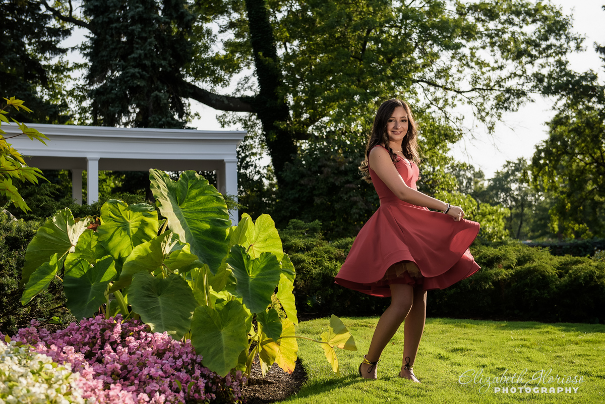 Bat Mitzvah Portrait at Beechmont Country Club Pepper Pike Ohio