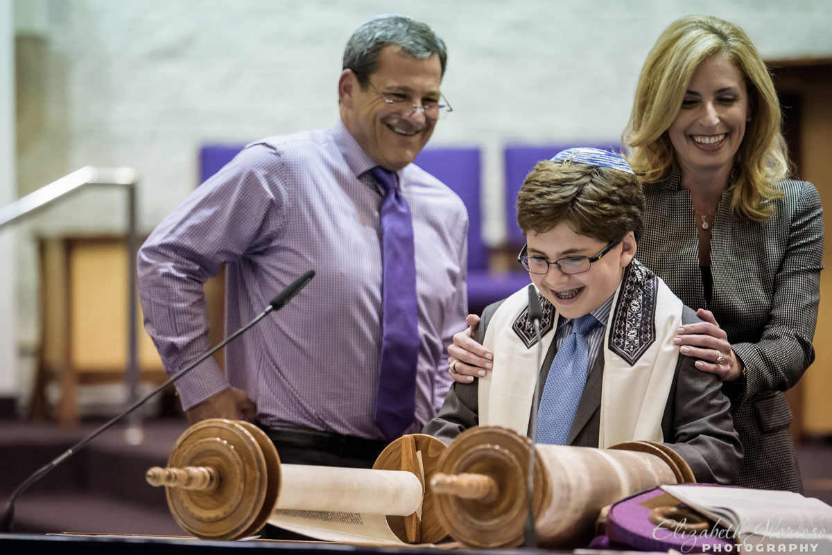 Bar Mitzvah rehearsal at B'nai Jeshurun in Pepper Pike, Ohio