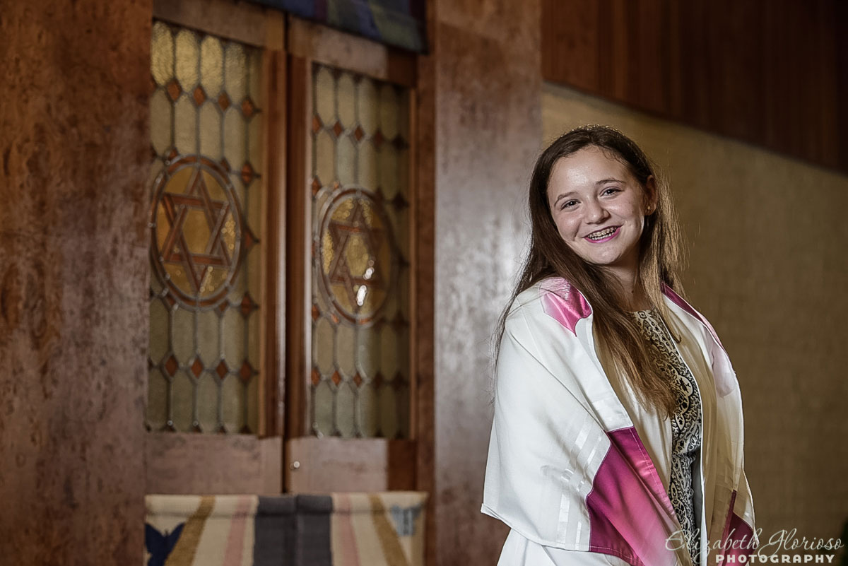 Bat Mitzvah portrait at Shaarey Tikvah Temple in Beachwood, Ohio