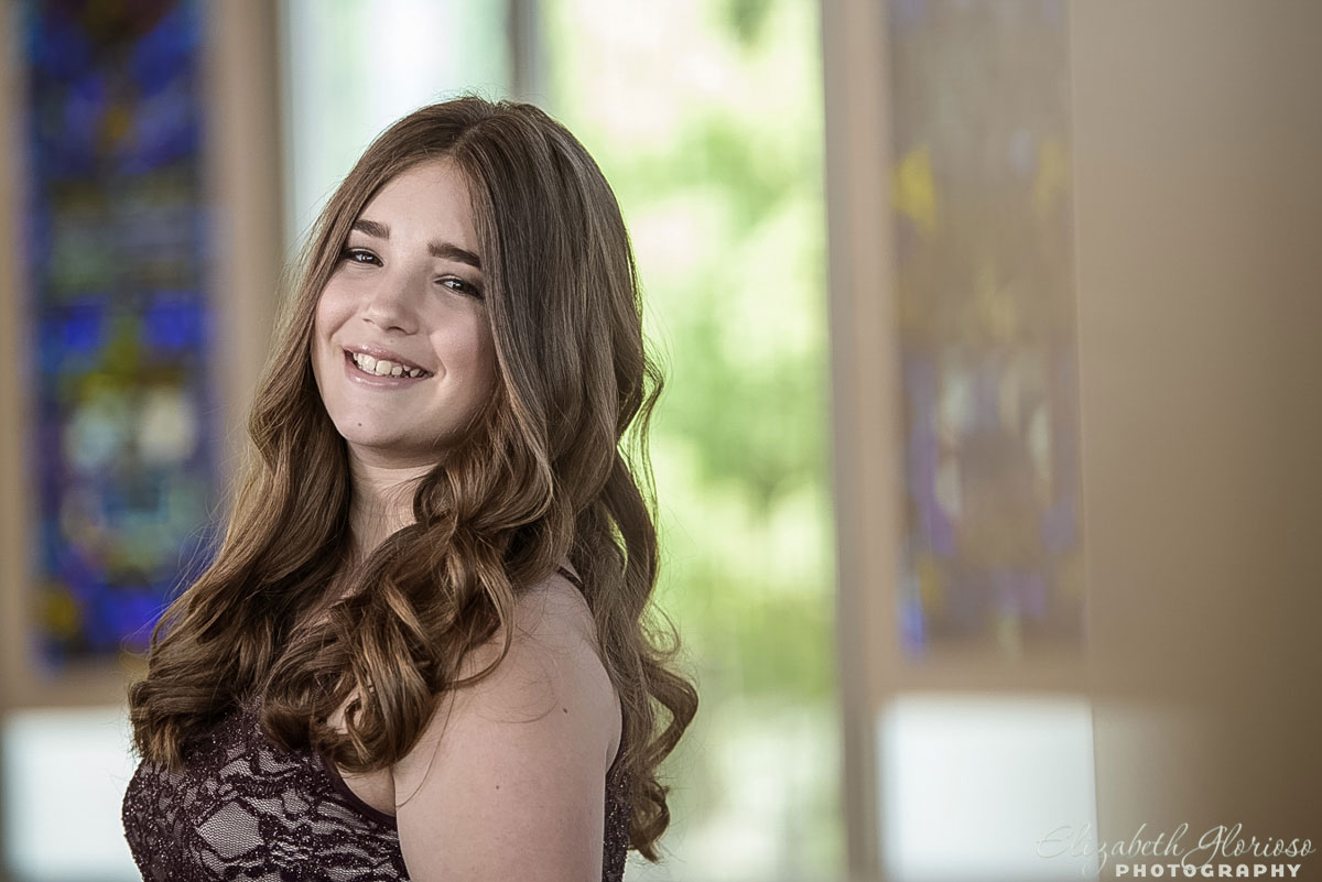 Bat Mitzvah portrait in the chapel at Tifereth Israel in Beachwood, Ohio