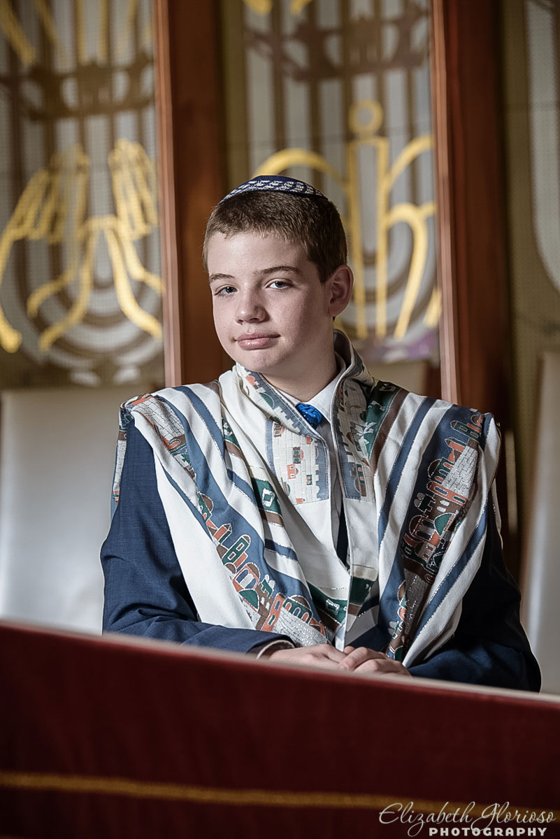 Bar Mitzvah portrait at Park Synagogue in Cleveland Heights, Ohio
