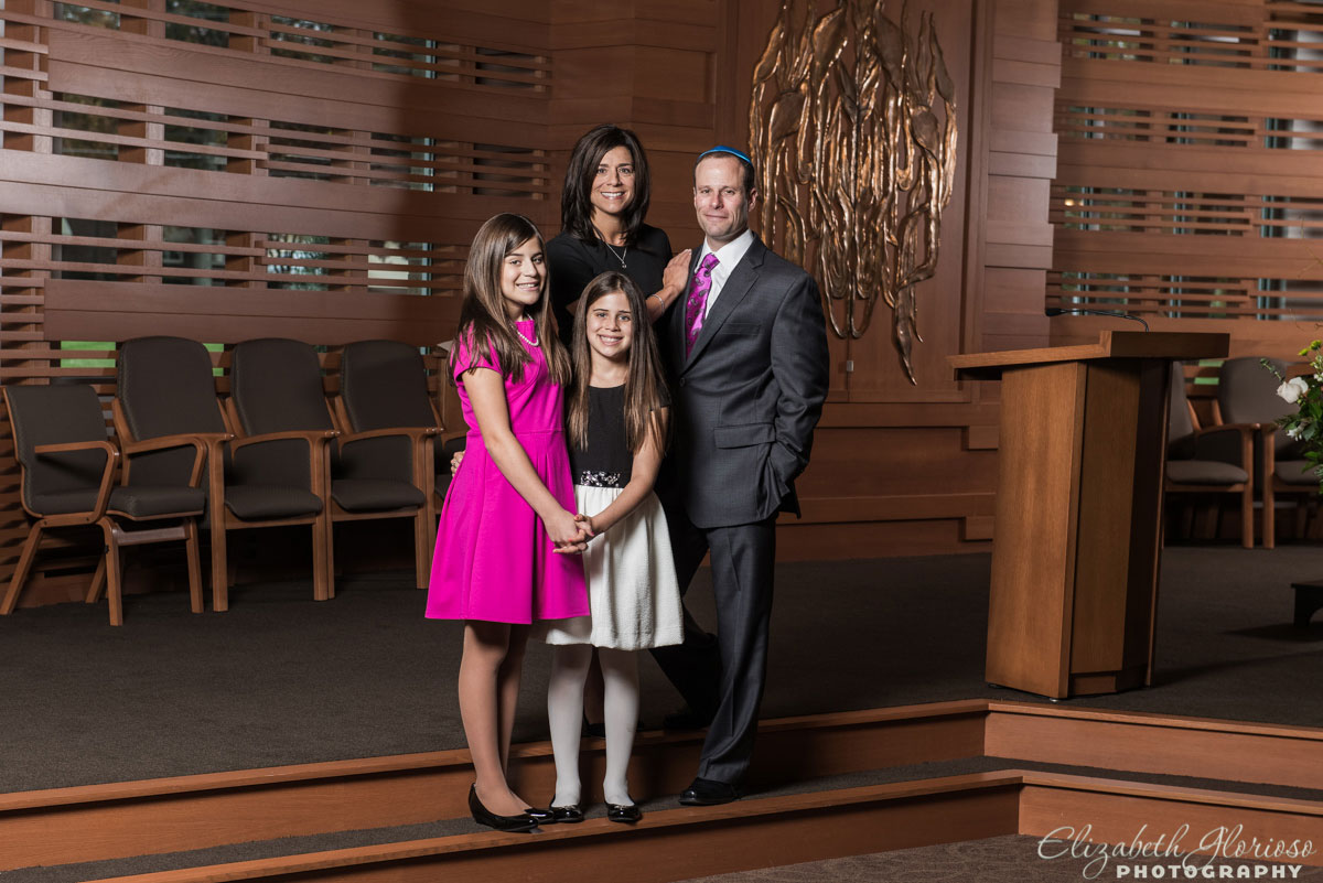 Bat Mitzvah girl on the Bimah at Temple Israel in Canton, Ohio
