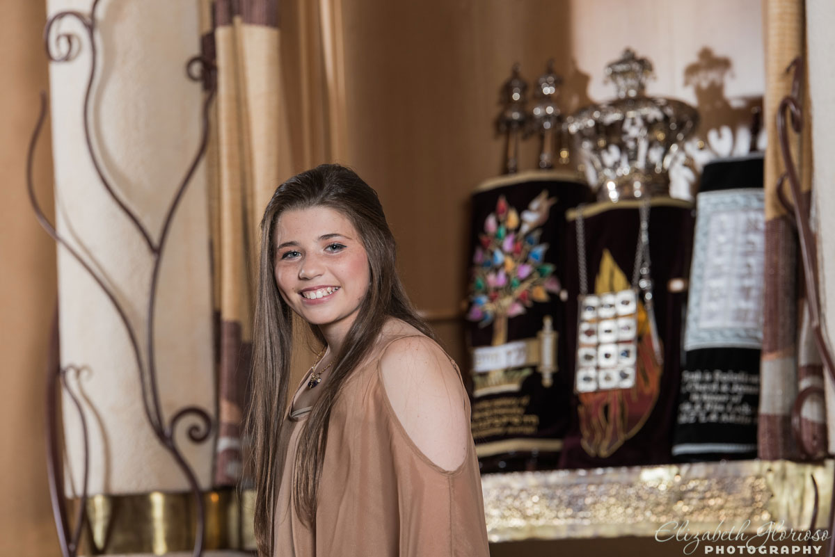 Bat Mitzvah Portrait at Chabad Jewish Center in Solon Ohio