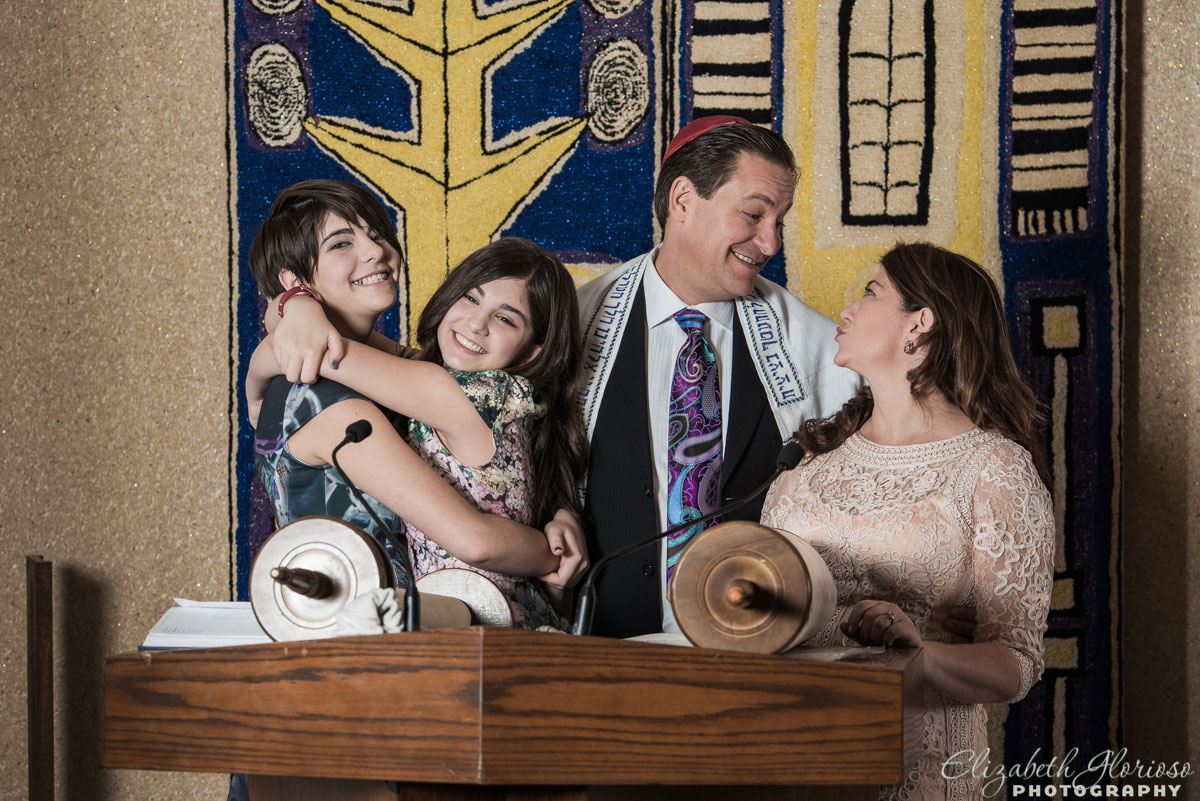 Family portrait for Bat Mitzvah Fairmount Temple Chapel in Beachwood Ohio