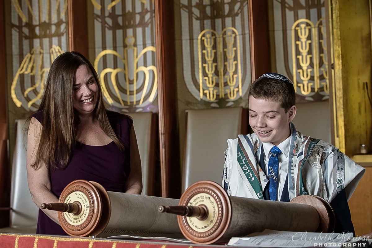 Bar Mitzvah rehearsal at Park Synagogue in Cleveland Heights, Ohio