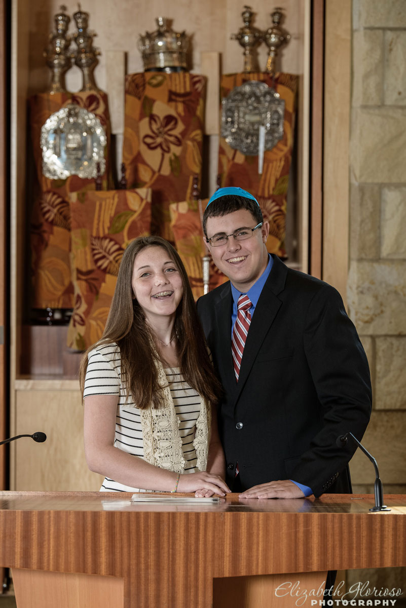 Portrait for Bat Mitzvah girl at Temple Emanu El in Cleveland, Ohio