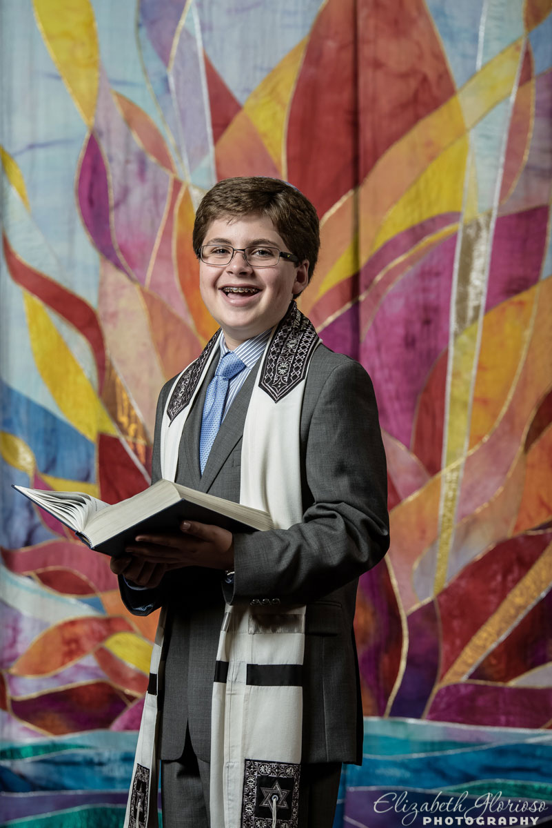 Bar Mitzvah portrait at B'nai Jeshurun in Pepper Pike, Ohio