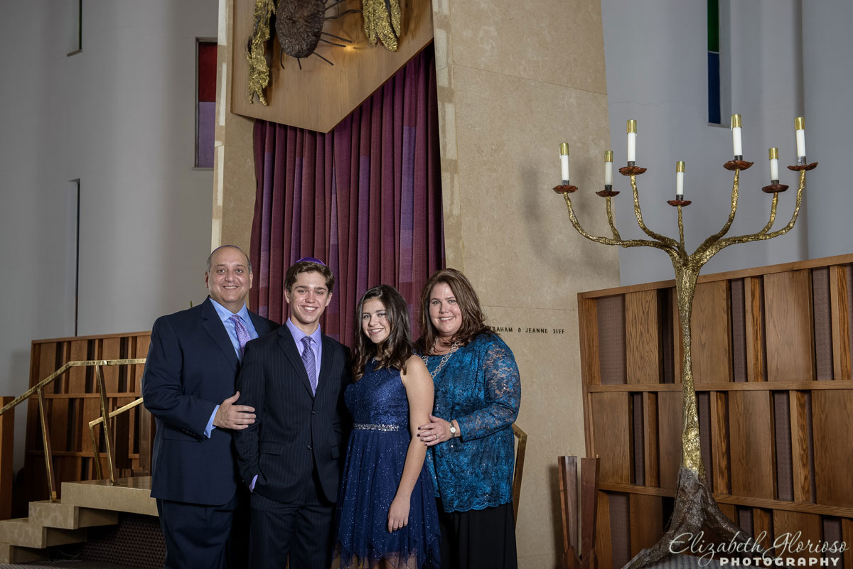 Bat Mitzvah family portrait Fairmount Temple Beachwood, Ohio