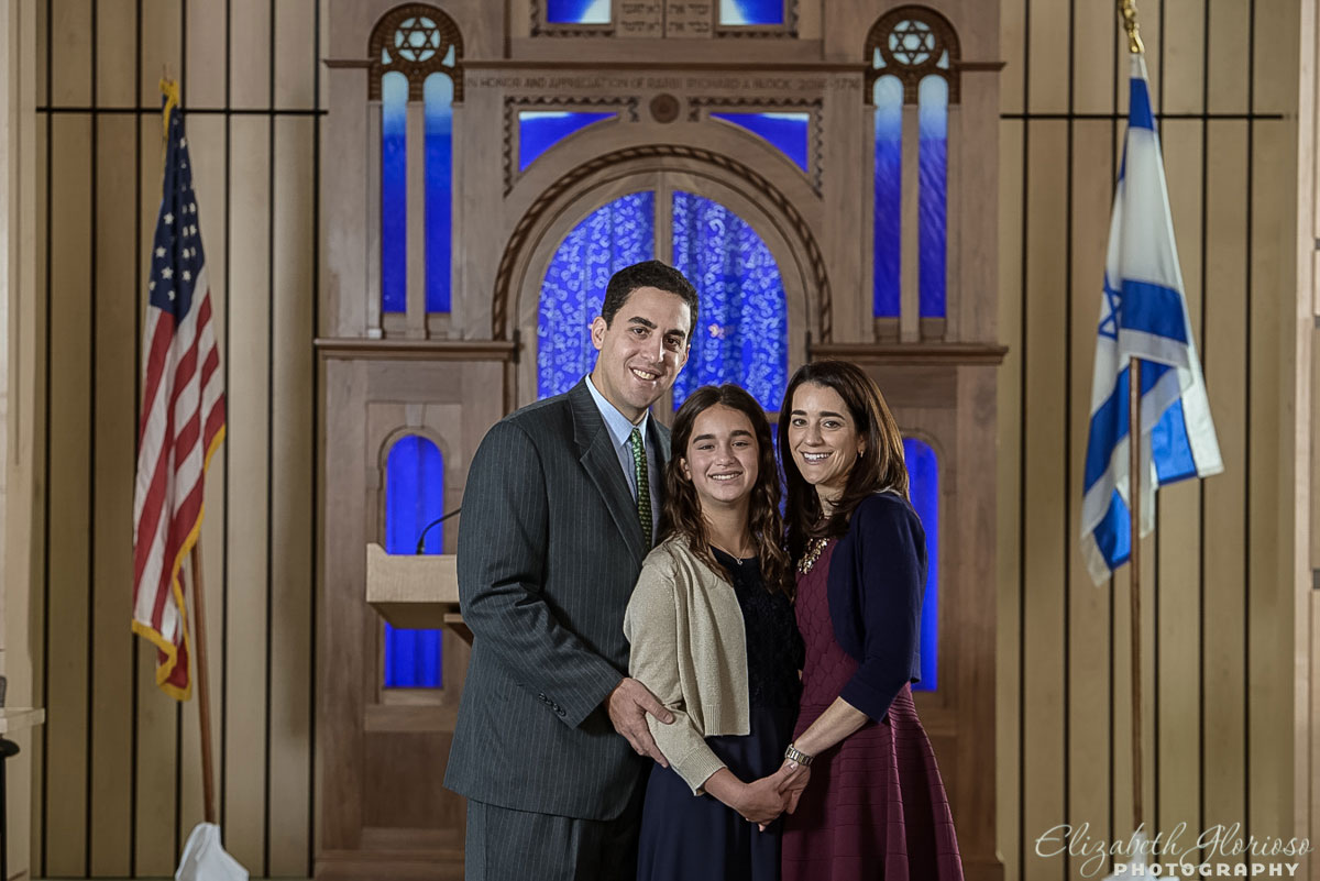 Bat Mitzvah family portrait Tifereth Israel Chapel Beachwood, Ohio