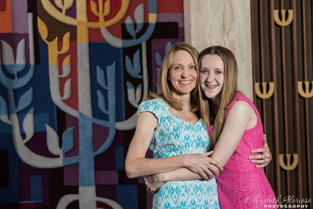 Bat Mitzvah mom and daughter Temple Israel Akron, Ohio