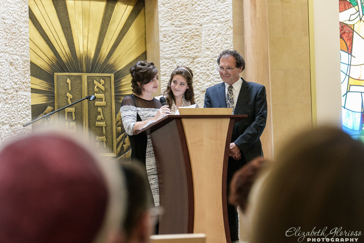 Mitzvah service at Revere Road Synagogue Akron, Ohio