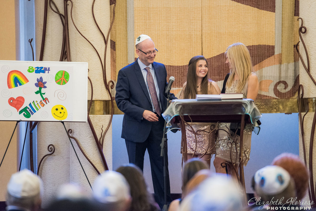 Bat Mitzvah service at Chabad Jewish Center Solon, Ohio