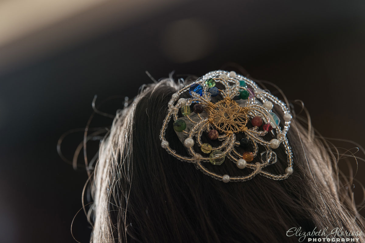 Handmade Kippah for the Bat Mitzvah girl at Fairmount Temple
