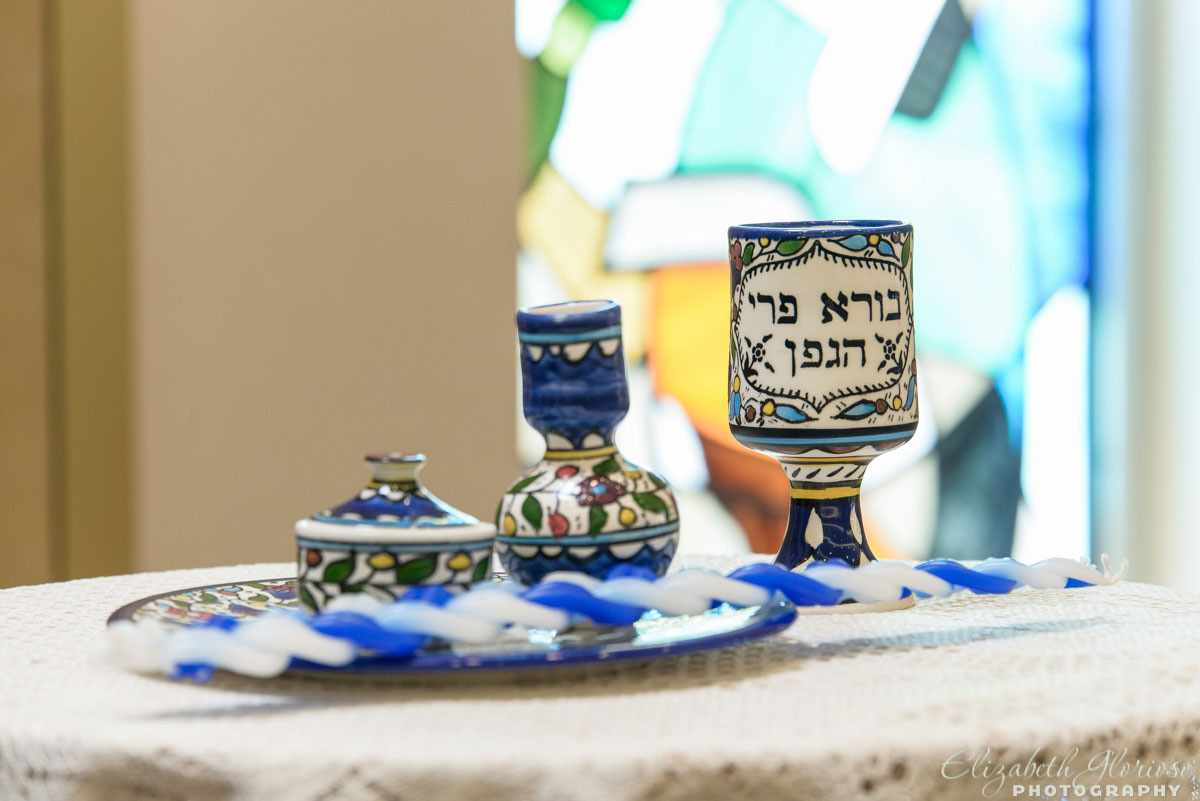 Kiddush cup at Mitzvah service at Revere Road Synagogue Akron, Ohio