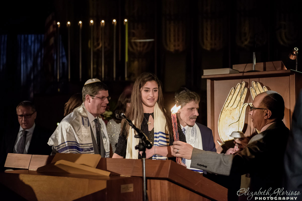 Havdalah at a Mitzvah at Park Synagogue in Cleveland Heights, Ohio