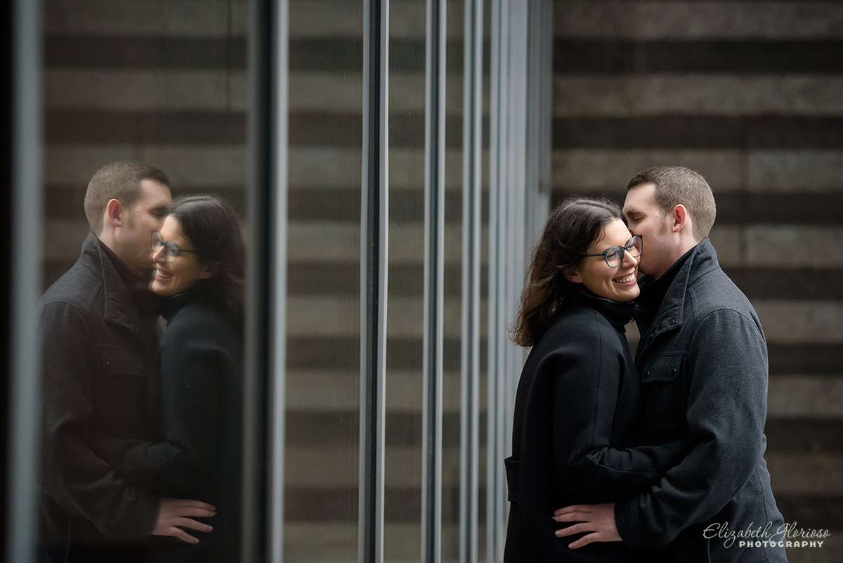 Cleveland Museum of Art winter engagement photos