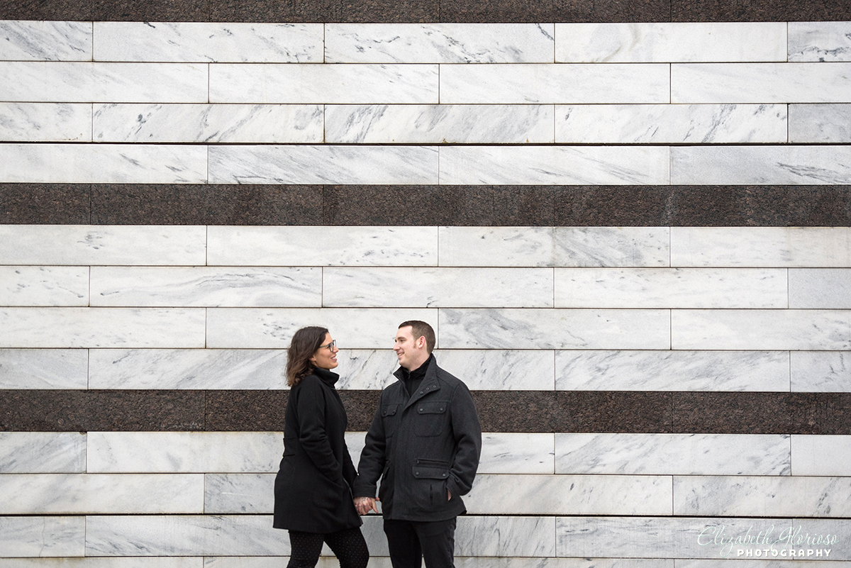 Cleveland Museum of Art winter engagement photography