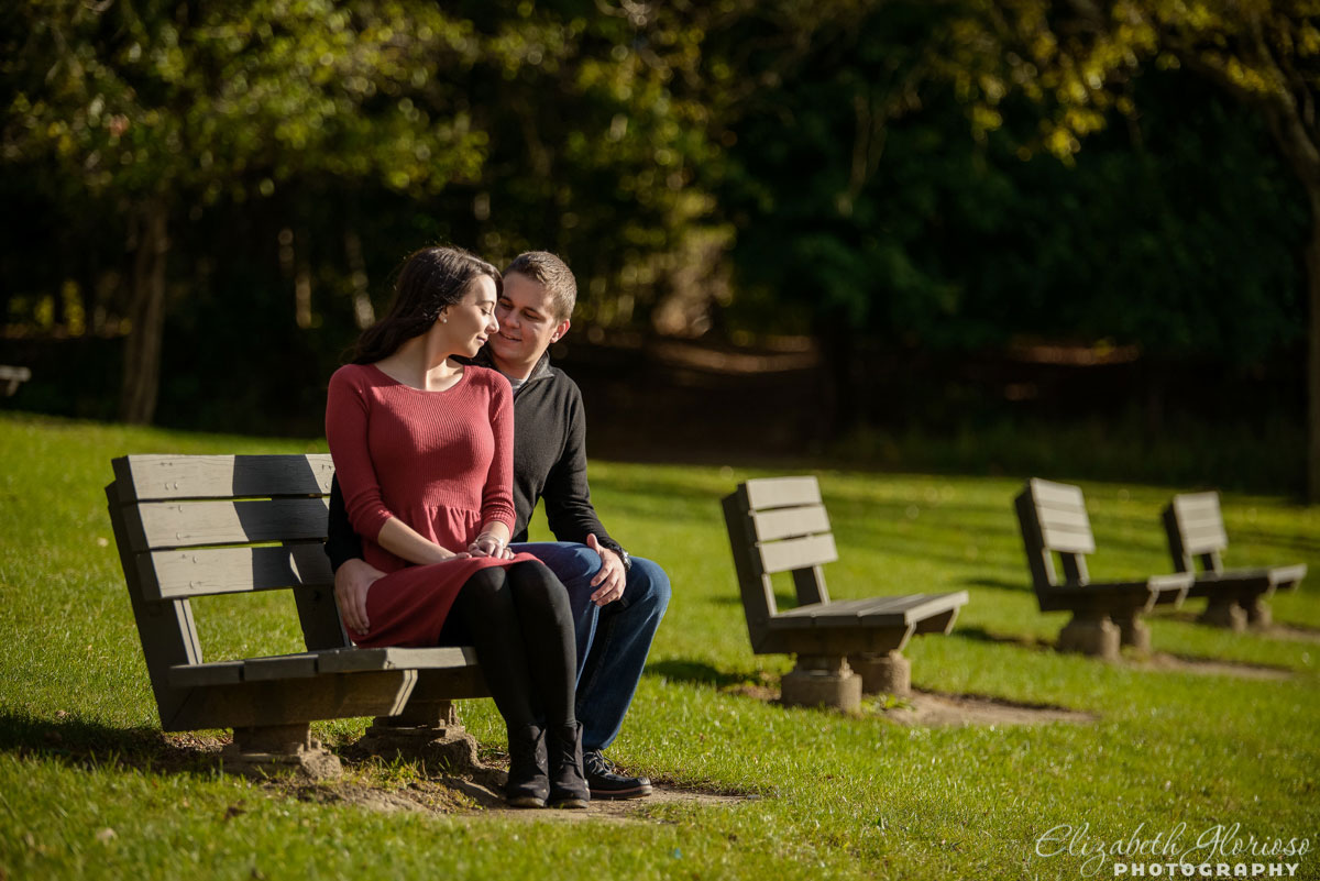 Engagement session at Wallace Lake in Berea, Ohio