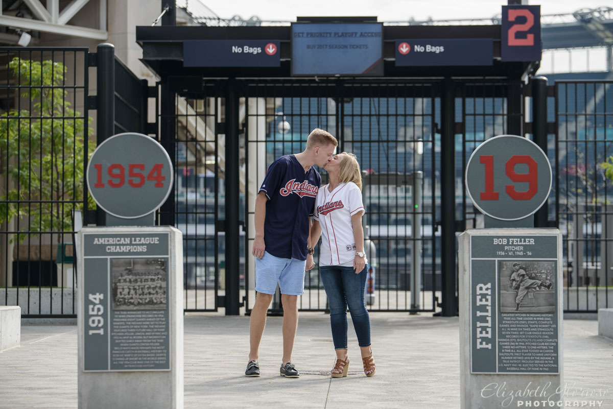 Cleveland Indians engagement session in Cleveland Ohio at Progressive Field