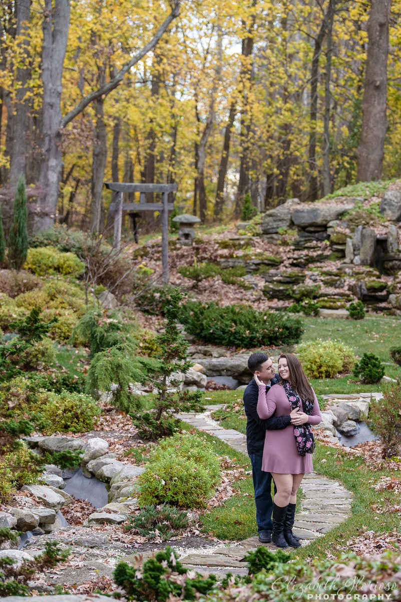 Fall engagement session at Stan Hywet Hall and Gardens in Akron, Ohio