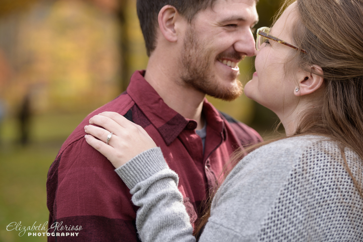 Fall engagement photos Squires Castle Willoughby Hills Ohio