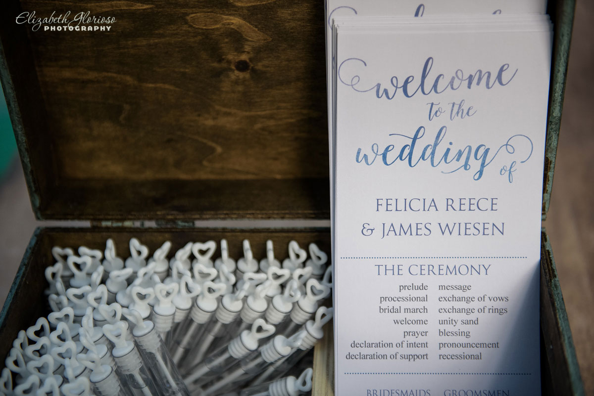 Photo of wedding program in Cleveland, OH