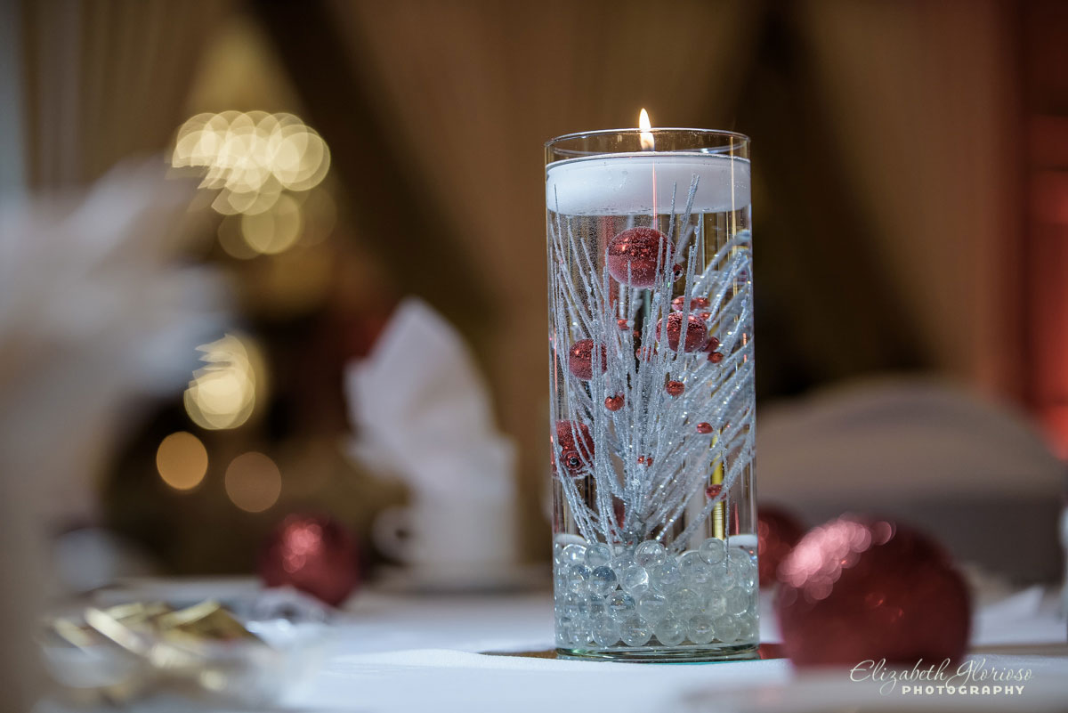 Wedding photo of candle at Carrie Cerino's in North Royalton, OH