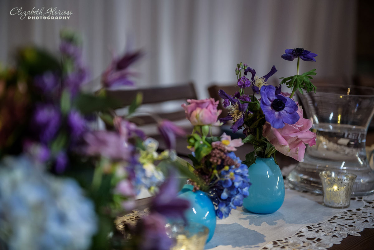 Photograph of flowers at wedding