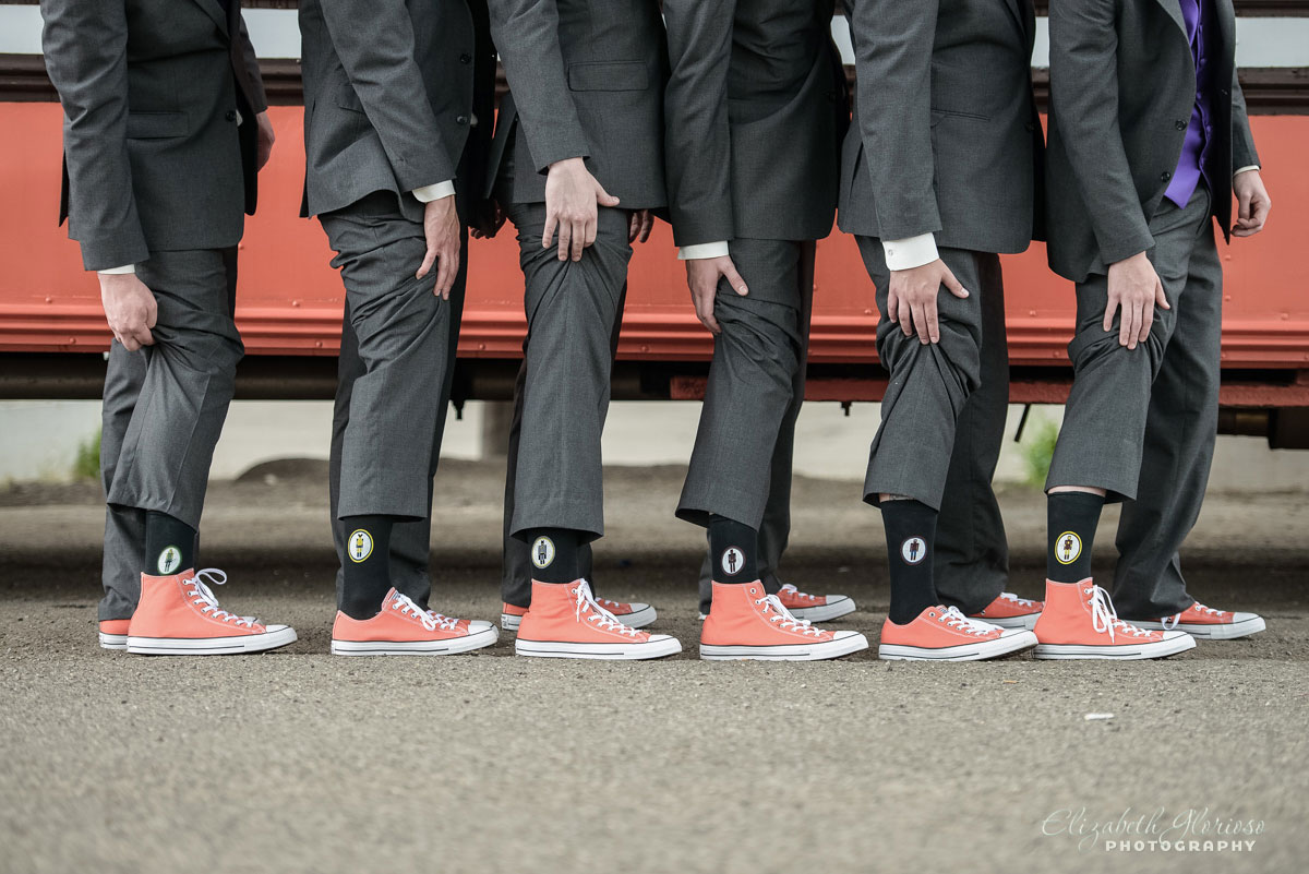 Picture of groomsmen and their shoes near Cleveland, OH