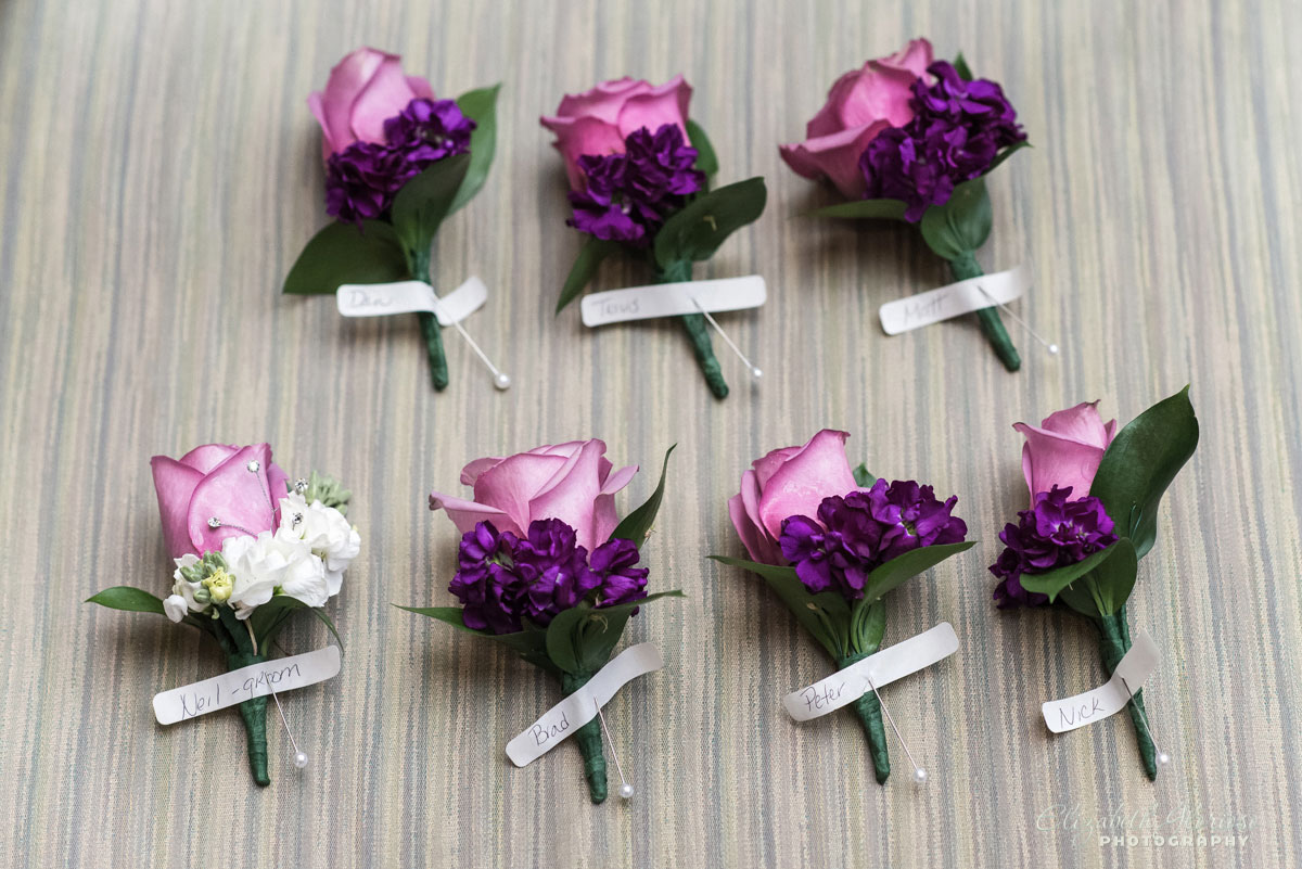 Photo of boutonnieres for wedding