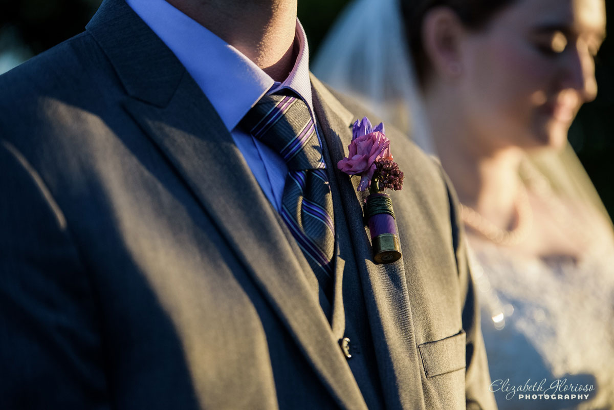 Wedding photo of boutonnieres on groom