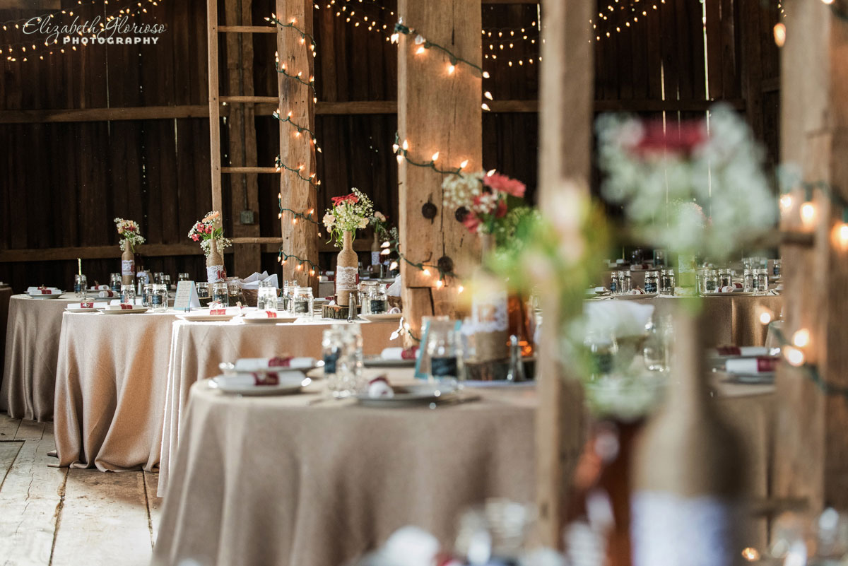Picture of tables at wedding reception