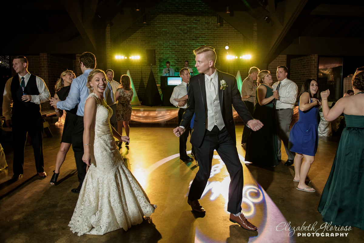 Bride and groom dancing at reception St Clarence North Olmsted Ohio