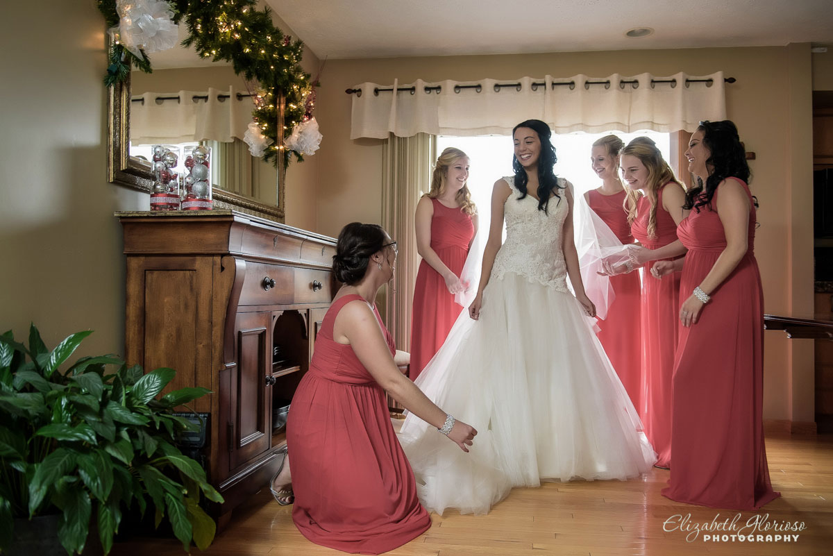Photo of bridal party in Parma, Ohio