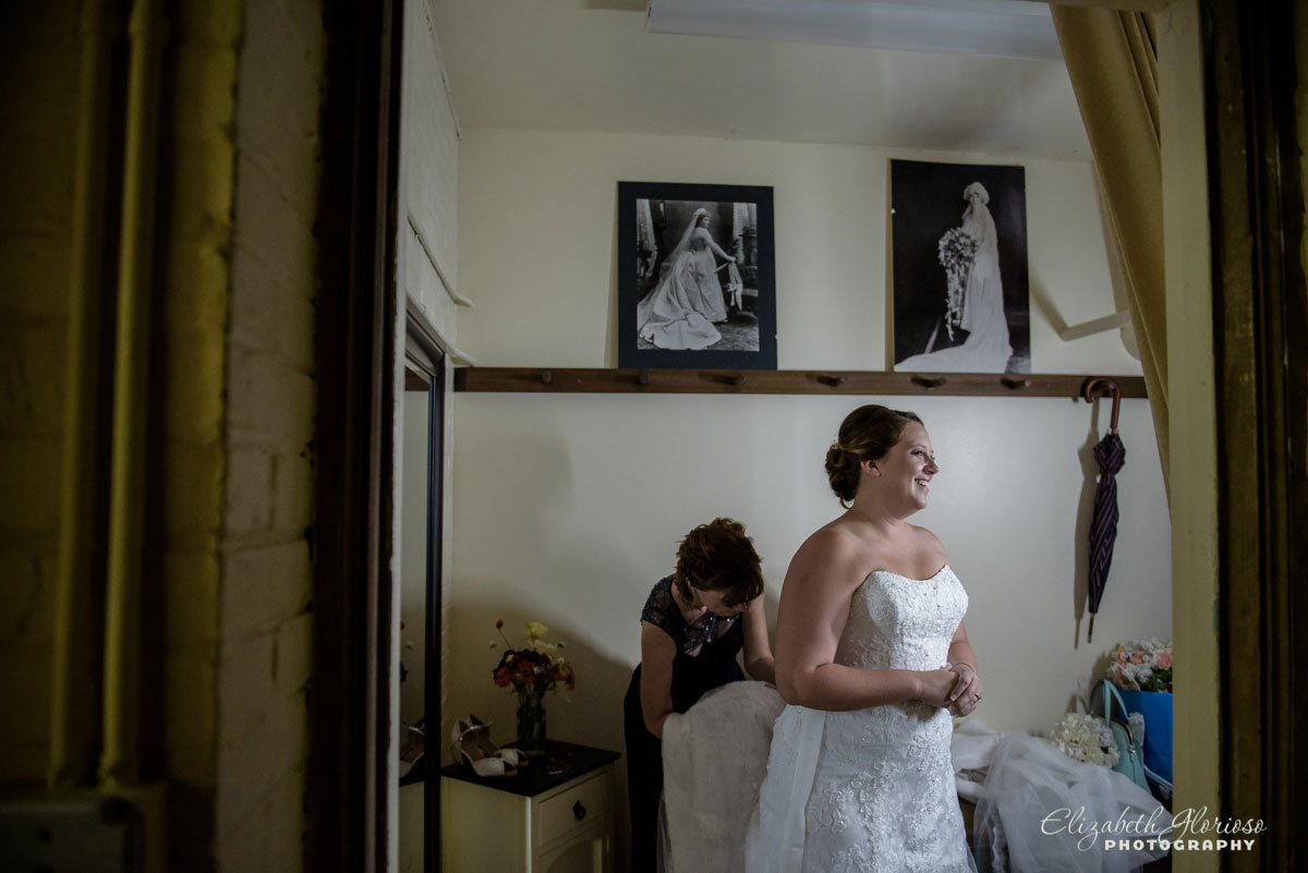 Picture of bride at Stan Hywet Hall in Akron, OH