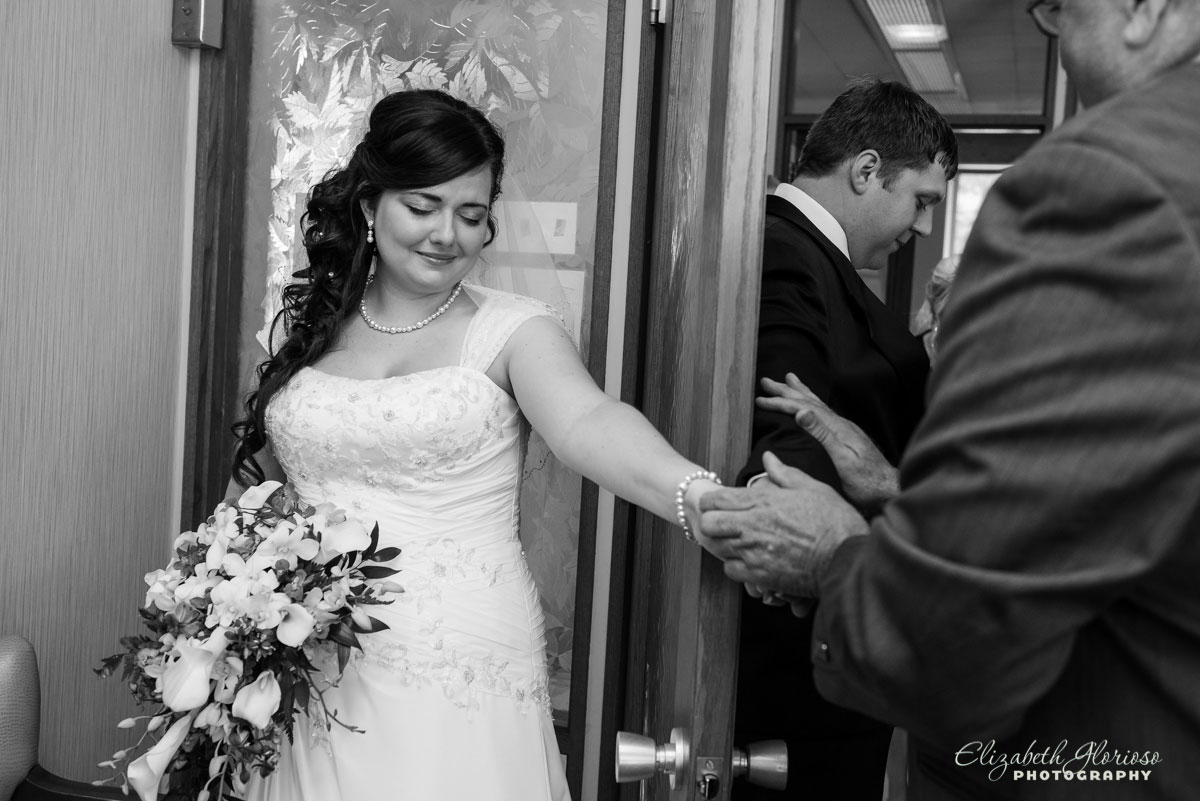 Photo of bride taken at Rockport Church in Cleveland, OH